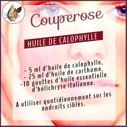 traiter le couperose avec l'huile de calophylle