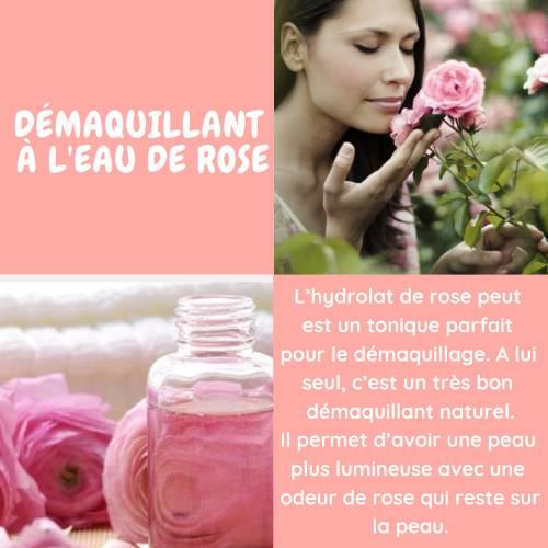 Démaquillant à l'eau de rose