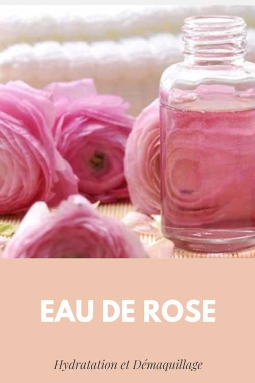 Hydratation et démaquillage à l'eau de rose