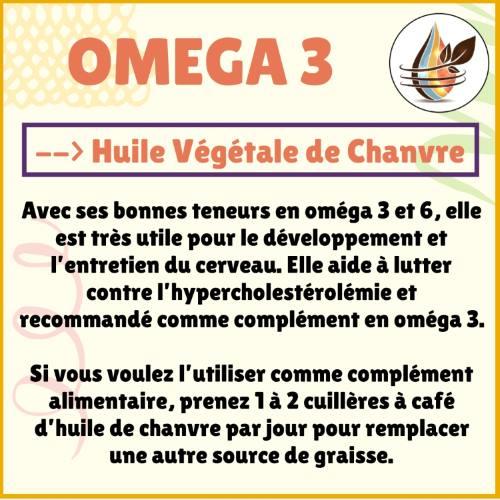 Apport oméga 3 avec l'huile de chanvre