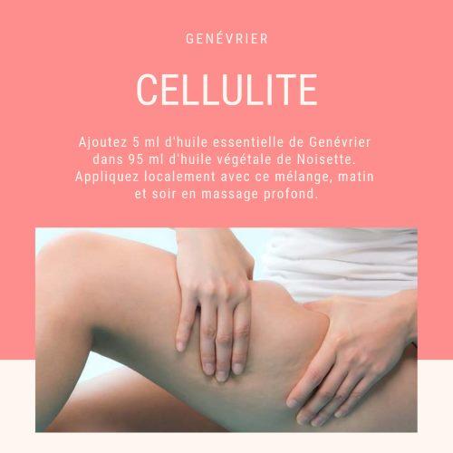 Cellulite : Massage avec l'huile essentielle de genévrier
