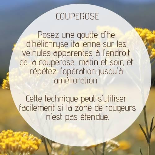Supprimer la couperose avec l'hélichryse italienne