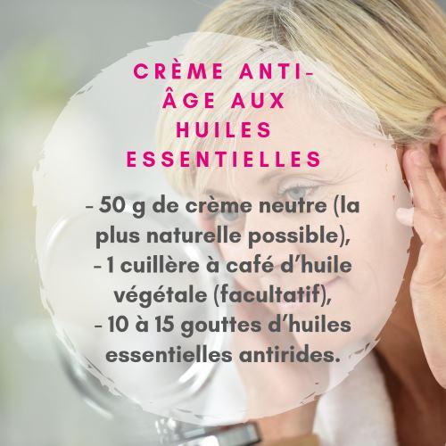 Crème Antiride Et Anti âge Aux Huiles Essentielles