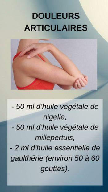 Douleurs articulaires : Lotion de massage à la nigelle