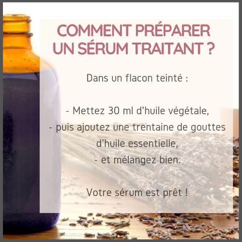 Comment préparer un sérum pour un problème de peau sèche ?