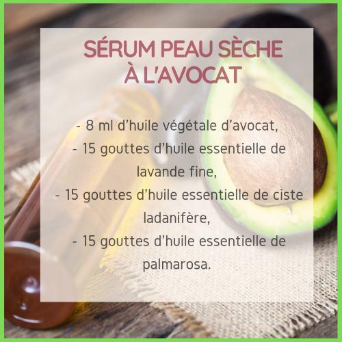 Sérum peau sèche à l'huile d'avocat