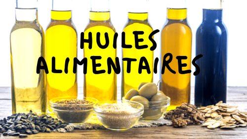 Les huiles alimentaires pas pour les soins du visage.
