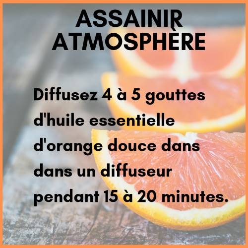 Diffusion huile essentielle orange douce