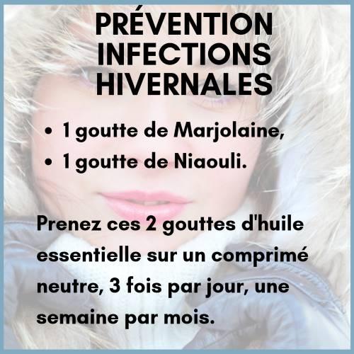 Prévention des infections hivernales avec l'he de marjolaine à coquilles