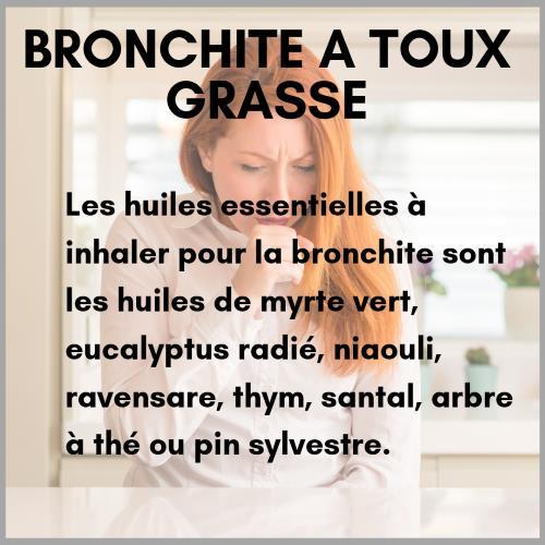 Inhalation d'huile essentielle pour la bronchite