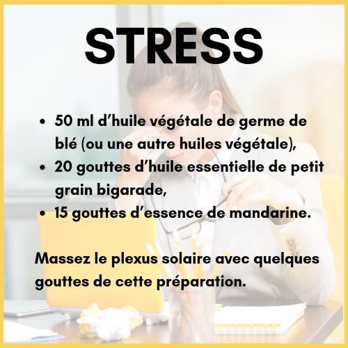 huile anti-stress avec l'orange amer (petit grain bigarade)