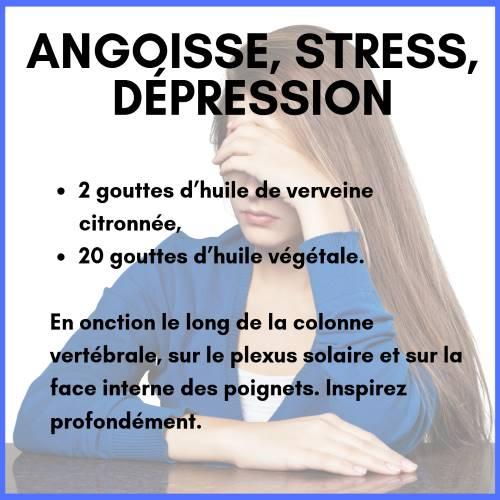 Stress : huile essentielle de verveine citronné
