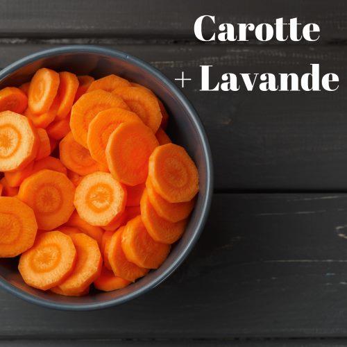 Huiles essentielles de carotte et lavande pour une brûlure