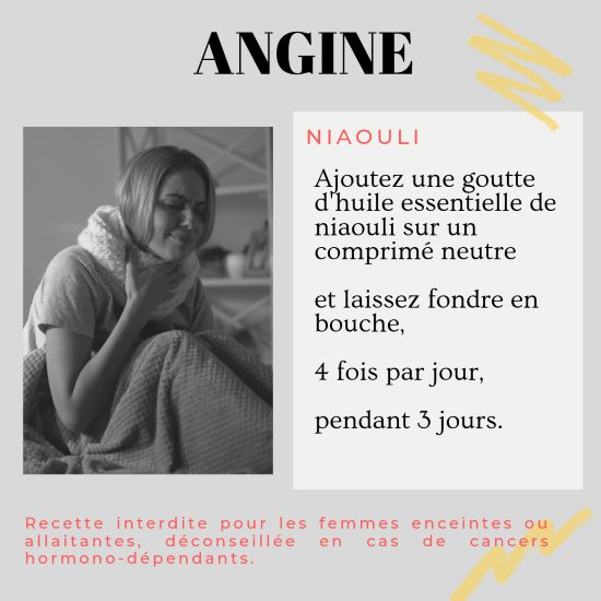 Soigner une angine avec l'huile essentielle de niaouli