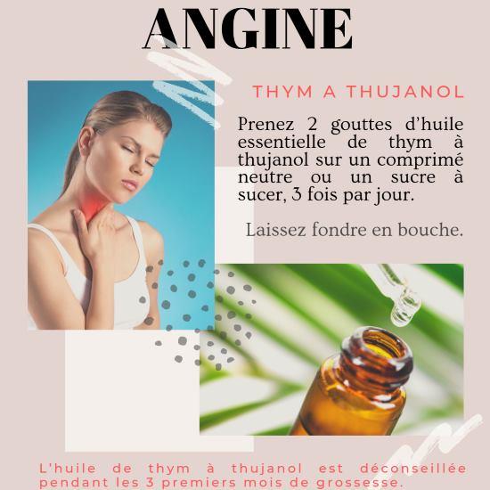 Soigner une angine avec le thym à thujanol