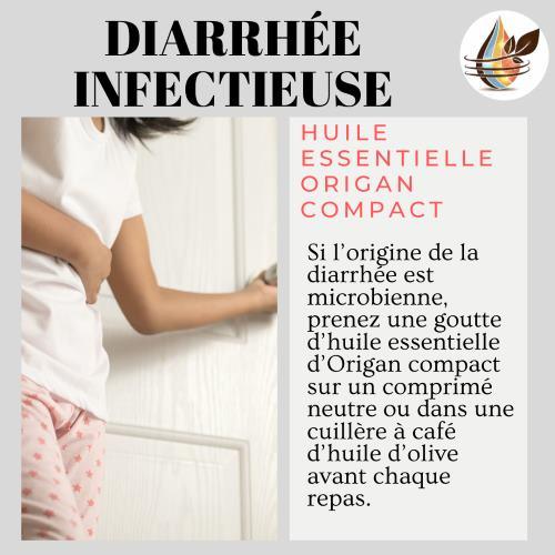 soigner une diarrhée liée au stress avec l'huile essentielle de marjolaine à coquilles.