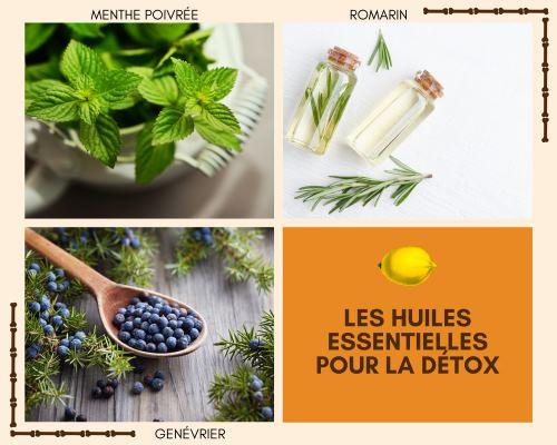 Les huiles essentielles pour la détox