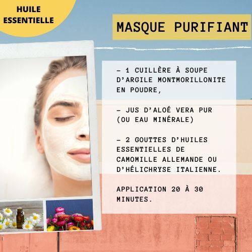 masque purifiant aux huiles essentielles