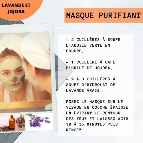 masque purifiant jojoba argile et lavande