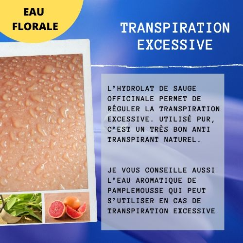 Eaux florales pour la transpiration excessive