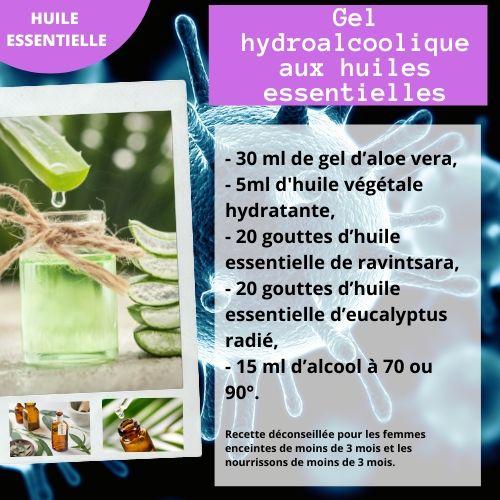 recette gel hydroalcoolique aux huiles essentielles