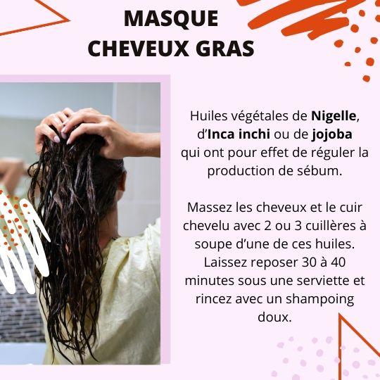 Masque aux huiles végétales pour cheveux gras