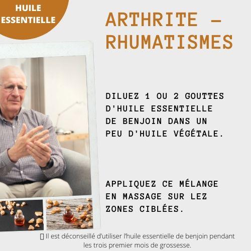 benjoin arthrite rhumatismes