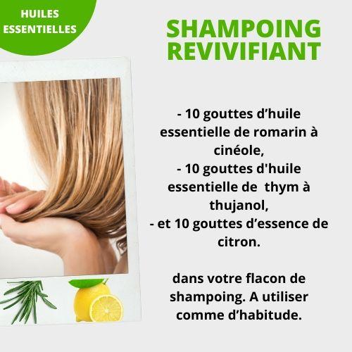 shampoing revivifiant aux huiles essentielles