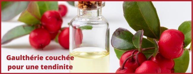 huile essentielle de gaulthérie couchée pour une tendinite