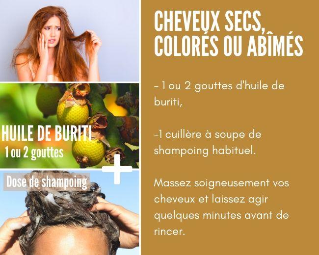 Huile de buriti pour les cheveux secs, colorés ou abîmés