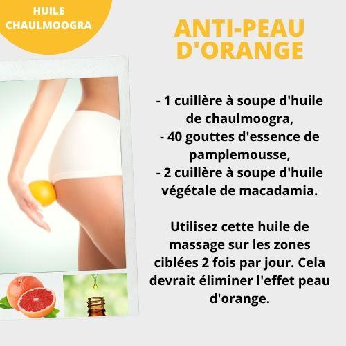 huile de chaulmoogra cellulite peau d'orange