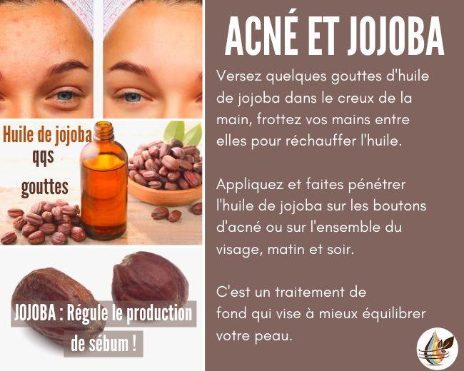 Traitez l'acné avec l'huile de jojoba