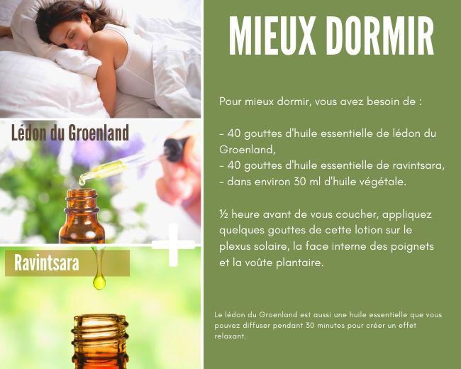 Huiles essentielles pour dormir