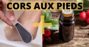 les huiles essentielles pour les cors aux pieds