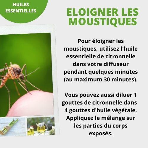 Huile essentielle de citronnelle contre les moustiques