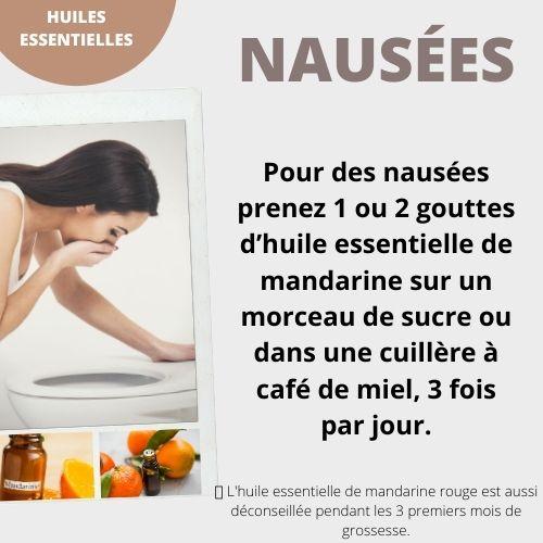 Huile essentielle mandarine contre les nausées