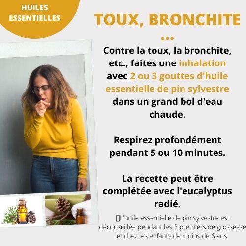 toux ou bronchite avec l'huile essentielle de pin sylvestre