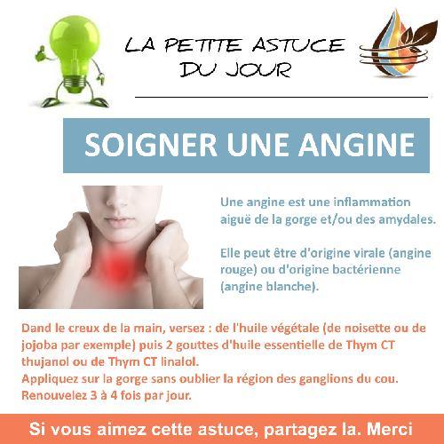 soigner angine avec l'huile essentielle de thym à thujanol