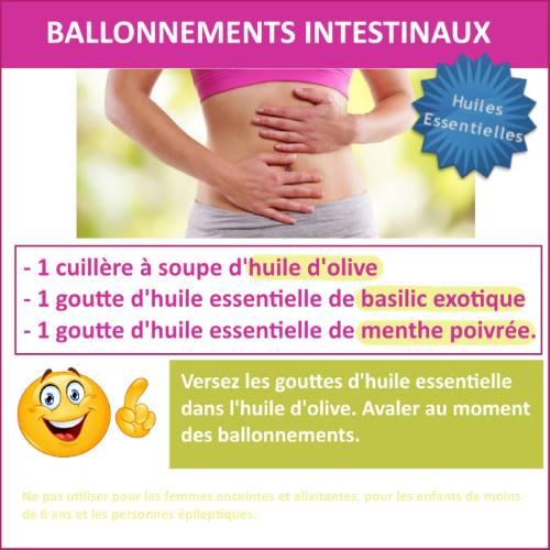 ballonnements intestinaux huile essentielle