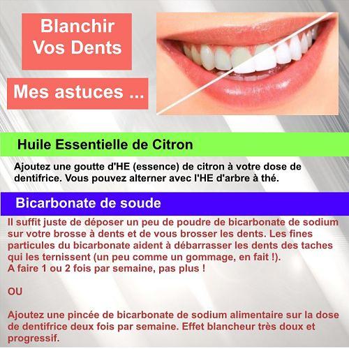 blanchir dents huiles essentielles et bicarbonate