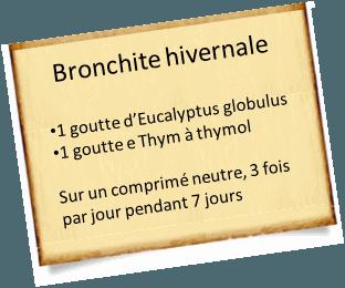 bronchite et eucalyptus globulus