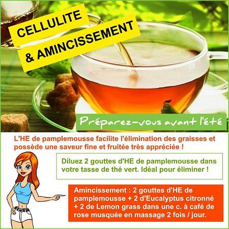 thé vert au pamplemousse contre la cellulite