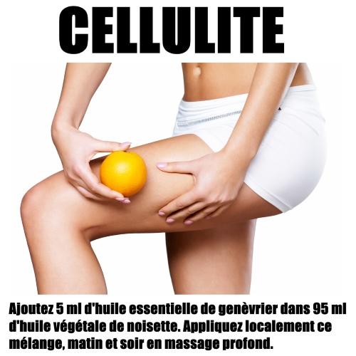 cellulite huiles essentielles