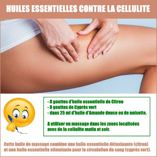 huile essentielle cellulite