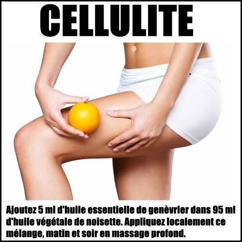 cellulite huile essentielle de genèvrier