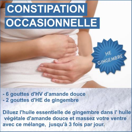constipation occasionnelle gingembre
