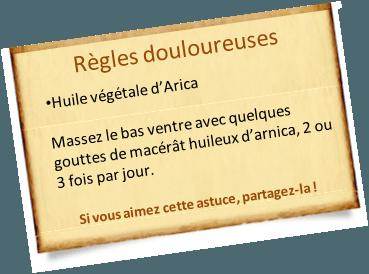 Soulager des règles douloureuses avec l'huile d'arnica