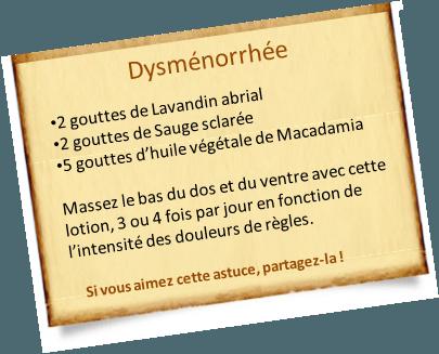 Dysménorrhée : Massages aux huiles essentielles efficaces.