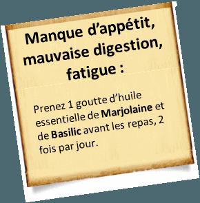 fatigue et huile essentielle de marjolaine
