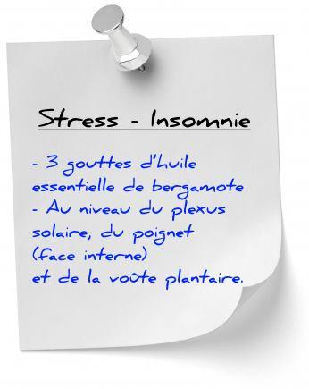 stress insomnie avec l'huile essentielle bergamote